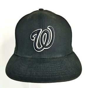 b17a2636 New Era 59Fifty Washington Nationals Cap Hat Fitted Black Dub DC ...