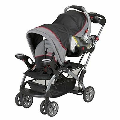 Double Travel System Stroller Baby Infant Twin Carriage