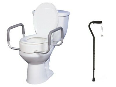 Essential Elevated Toilet Seat With Arms Elongated And