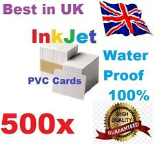 500 PVC inkjet id cards for Epson & Canon can print double-sided