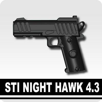 STI (W201) Pistol compatible with toy brick minifigures Army Night Hawk SWAT