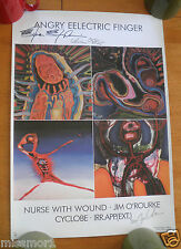 Angry Eelectric Finger concert band print #52/200 numbered 2004 Nurse signed