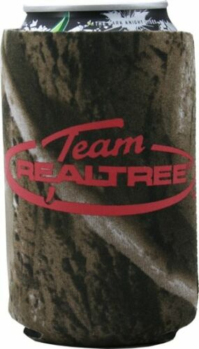 AES Outdoors Team Realtree Camo Koozies with red logo CHOOSE CAN OR BOTTLE