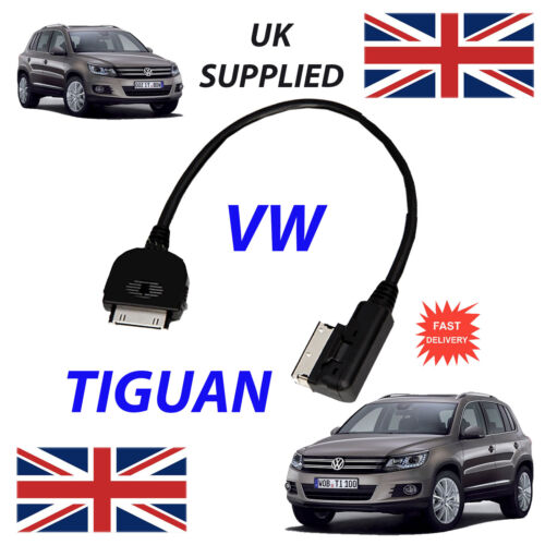 NEW VW TIGUAN MDI 000051446J iPhone iPod 4th Gen Audio Cable with Tagging