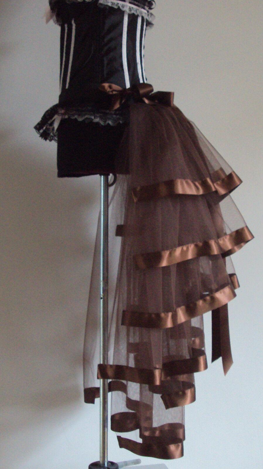 braun Burlesque Bustle Belt S M L XL Sexy Steampunk Goth Victorian Cosplay