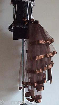 Brown Burlesque Bustle Belt S M L XL Sexy Steampunk Goth Victorian Cosplay