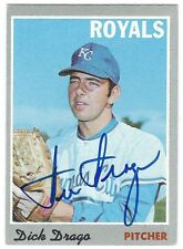 Autographed DICK DRAGO Kansas City Royals 1970 TOPPS card #37 w/COA