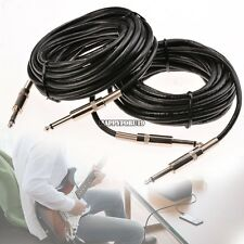 2 PACK speakon Plug To 1/4 male 25ft  PA DJ Pro Audio Sound Microphone  Cables