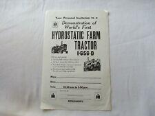 International Farmall 565 Tractor Demonstration Invitation Card Sheet Brochure
