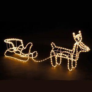 GRANDE-Natale-Renna-amp-Slitta-illuminare-decorazione-del-giardino-esterni-Corda