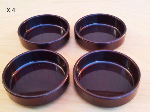 16 X LARGE Marron en plastique Castor Cups Protecteur De Plancher Tapis de sol stratifié 67 mm