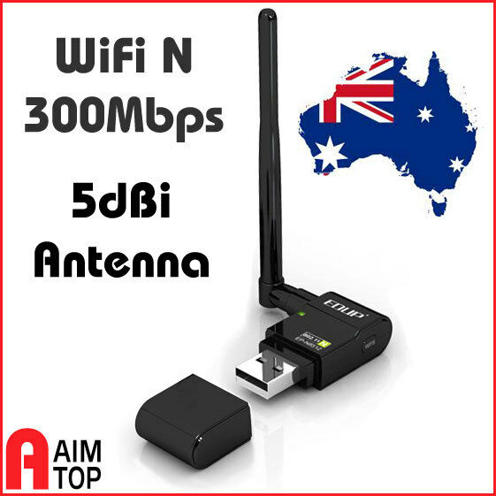 EDUP WiFi N 300Mbps USB Wireless Dongle High Gain 6dBi Antenna Win / Mac / Linux