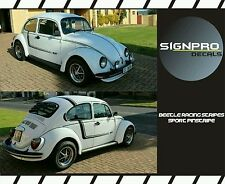Volkswagen Beetle Classic Rally Racing Stripes Decal Shadow Fader Blackout Great