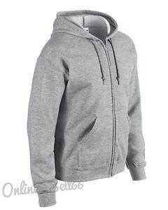 Gildan-Zipped-Plain-Hoodie-Full-Zip-Hoody-Men-Womens-Sweatshirt-Work-Wear-School