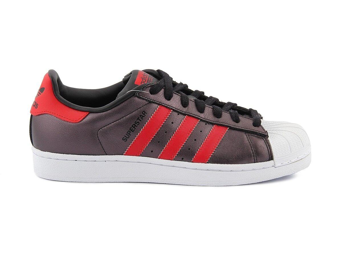 S75874 ADIDAS SUPERSTAR S75874 negro rojo zapatos zapatillas Unisex