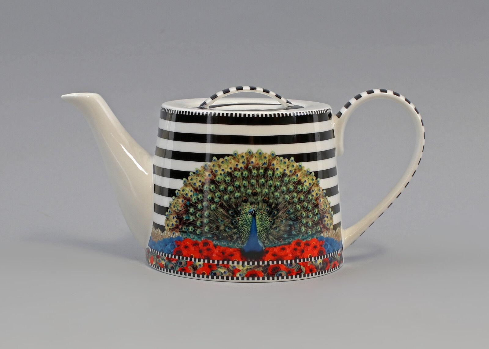 9952473 Thé-Théière Brillant porcelaine paon h12cm 1,2 L