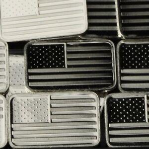 Lot-30-X-1-Gram-999-Fine-Silver-Bar-Bullion-American-flag-WPT469-oz
