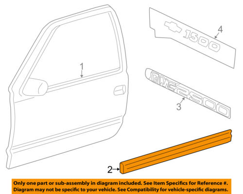 Chevrolet GM OEM 03-06 Silverado 1500 FRONT DOOR-Body Side Molding Left 15199304