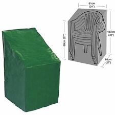 Patio Outdoor Garden Stacking Chair Protector Furniture Waterproof Green Cover