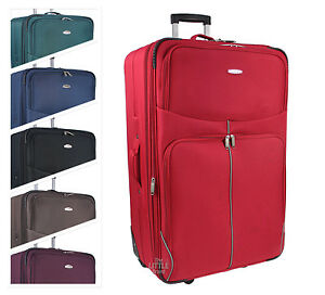 Details About Large Extra Lightweight Luggage Trolley Suitcase Travel Bag Rt32 29 32