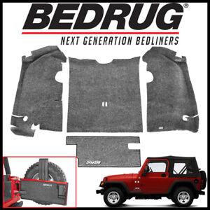 Bedrug BRTJ97R Custom Fit 4-pc For 97-06 Jeep Wrangler TJ Rear Cargo Liner Kit