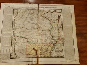 Geographical, Statistical and Historical Map of Arkansas Territory. Rare 1822
