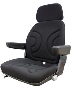 Schleppersitz-Staplersitz-Sitzoberteil-komplett-passend-Grammer-S85-90-Stoff