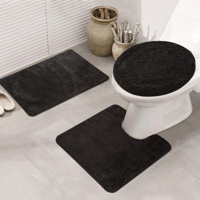 2Pcs//Set Eiffel Tower Bathroom Non-Slip Closestool Toilet Pedestal Rug Bath Mat