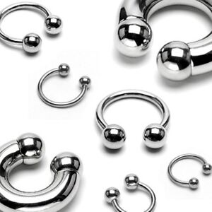 Surgical-Steel-Horseshoe-Lip-Nose-Septum-Nipple-Ear-Various-Sizes-Available