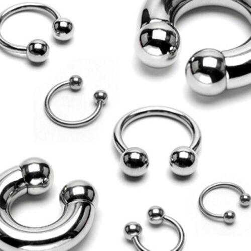 Surgical Steel Horseshoe Lip Nose Septum Nipple Ear Various Sizes Available
