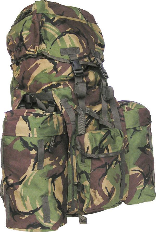 PLCE Bergen de tamaño completo 120 Litros  británico tema Dpm Camuflado Original Army Woodland  entrega gratis