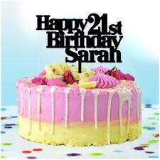 Black Acrylic Number 7 Birthday Wedding Anniversary Cake Topper Ebay