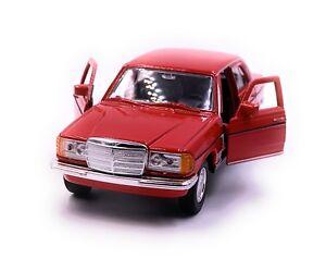 MERCEDES-BENZ-CLASSE-E-w123-Rosso-modello-di-auto-auto-scala-1-34-concesso-in-licenza