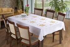 "Easter Tablecloth White Eggs 57"" (145cm) x 87"" (220cm)"