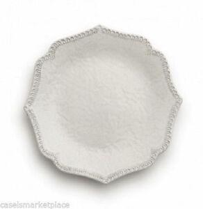 Image is loading Arte-Italica-Merletto-Antique-Scalloped-Set-of-4-  sc 1 st  eBay & Arte Italica Merletto Antique Scalloped Set of 4 Salad Dessert ...