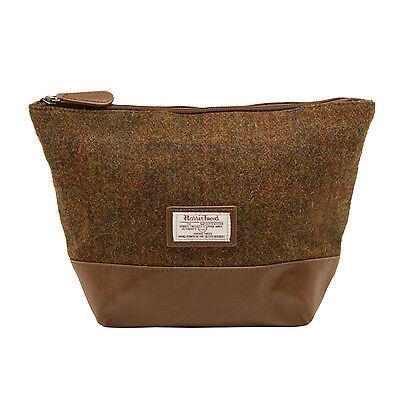 Harris tweed blue wash bag shave bag toiletry bag groomsmen man mens gift