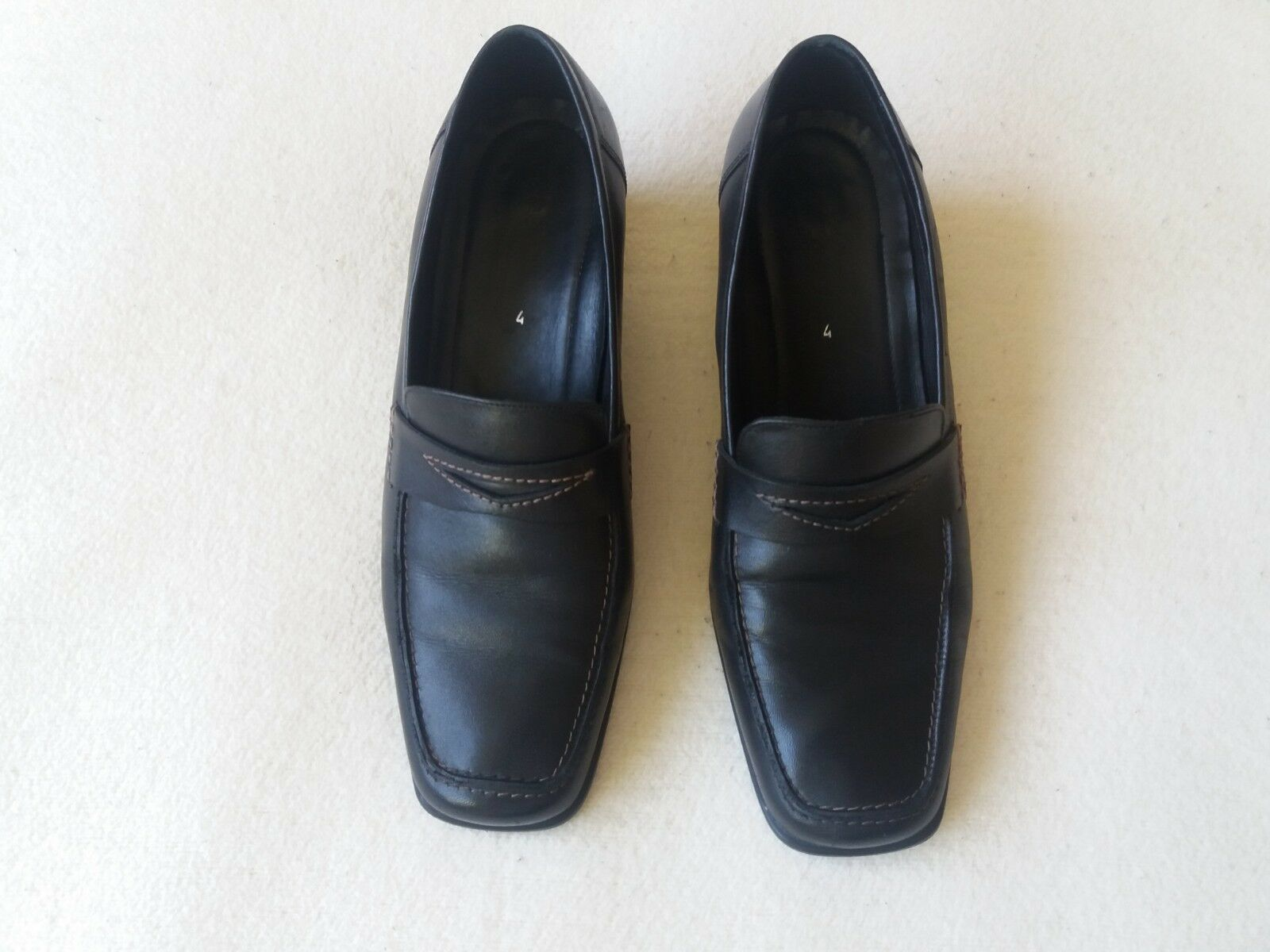 Women's Ecco Leather Shoes UK Size 4 Good Condition