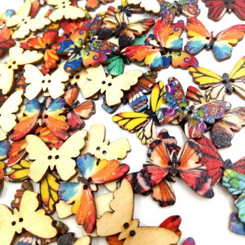 100 Stück DIY Mix Farbe gemalt Retro Butterfly Button für Coat Pants Cap