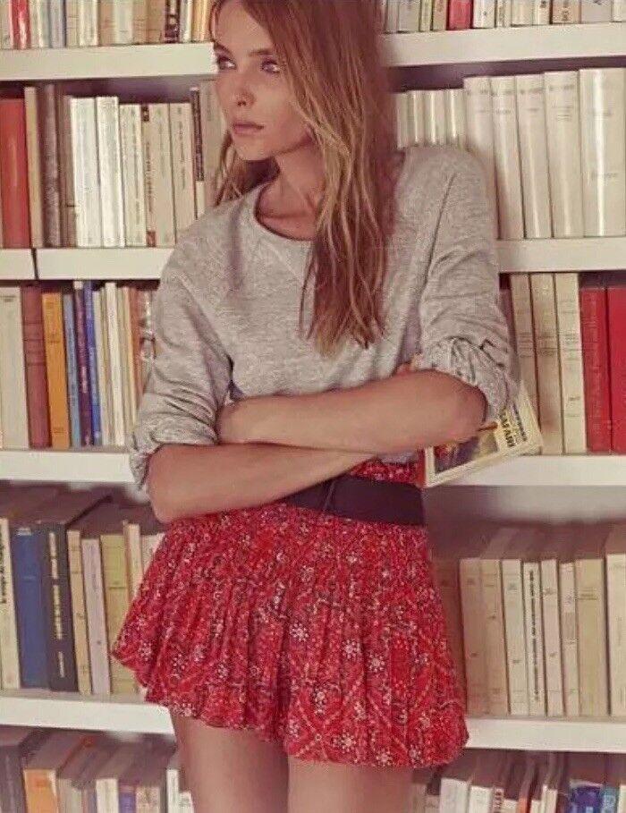 Isabel Marant Etoile Red Cotton Shorts Size 0