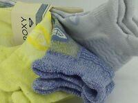 Women's Roxy Brand Blue Gray Yellow Low Cut Socks - 3 Pack - $36 Msrp - 25% Off