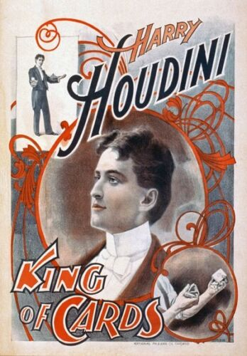 A4 Vintage High Quality Magic Magician Show Posters Houdini Thurston Kellar