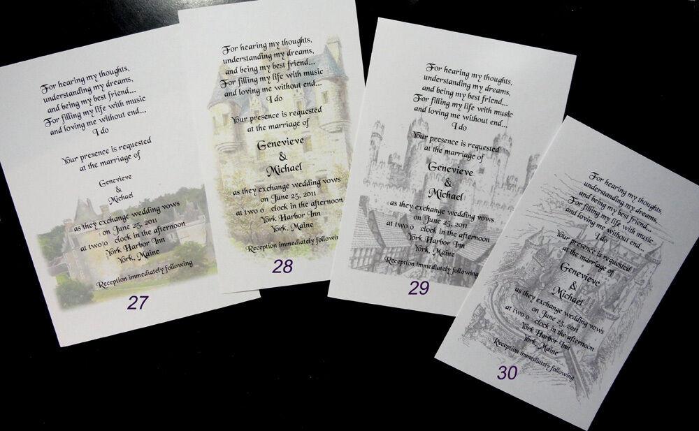 90 Chateau Médiéval Renaissance invitations Personnalisé pour Vous