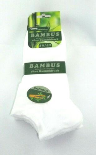 mit weitem Komfortbund Bambus-Sneakersocken ohne Gummidruck