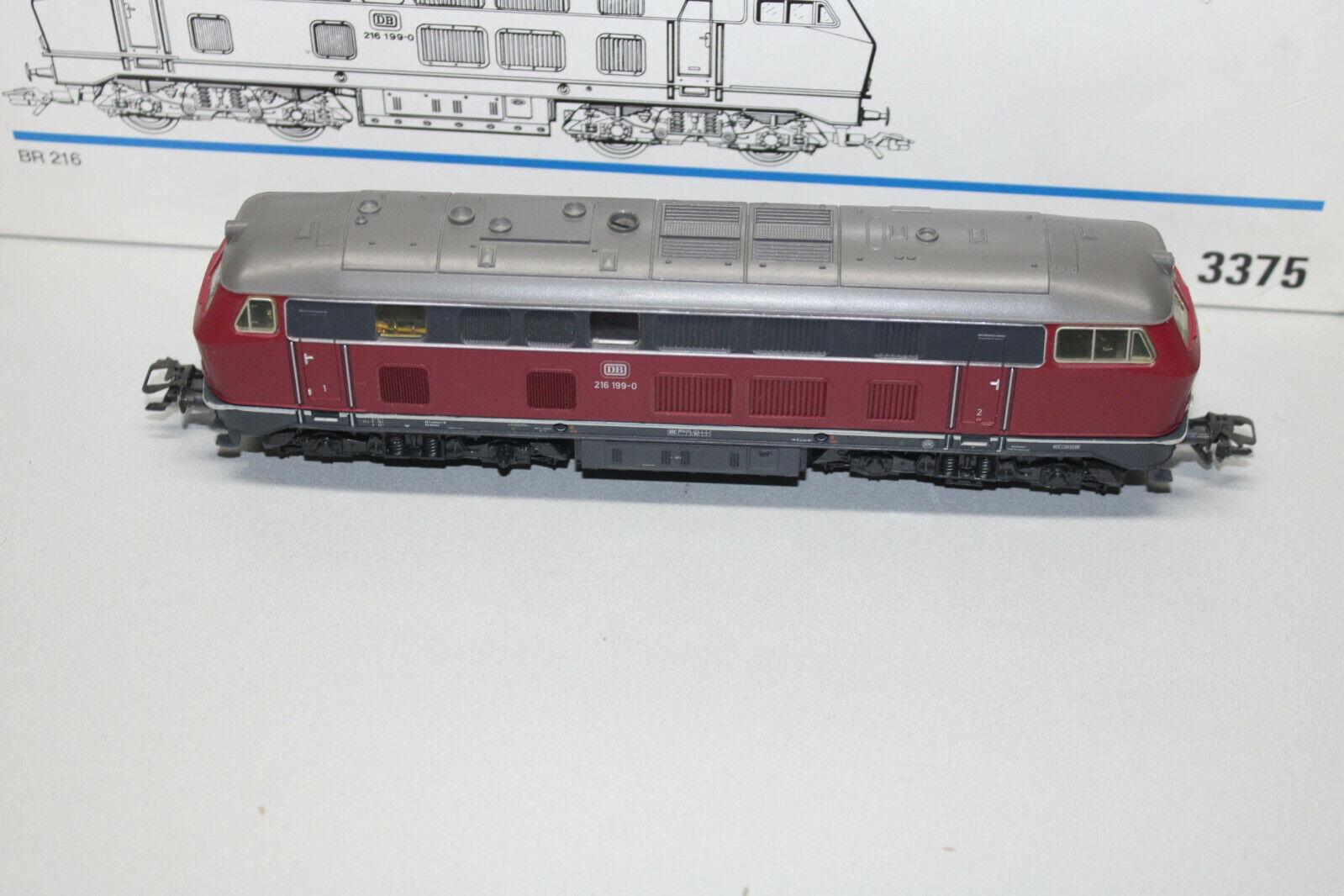 Märklin 3375 Digital Diesellok Baureihe 216 199-0 DB Spur H0 OVP
