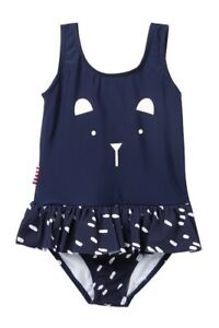 SOOKIBABY-Kid-Navy-Blue-Cute-Bear-Skirted-Swimsuit-12-months-NWT-UPF-50