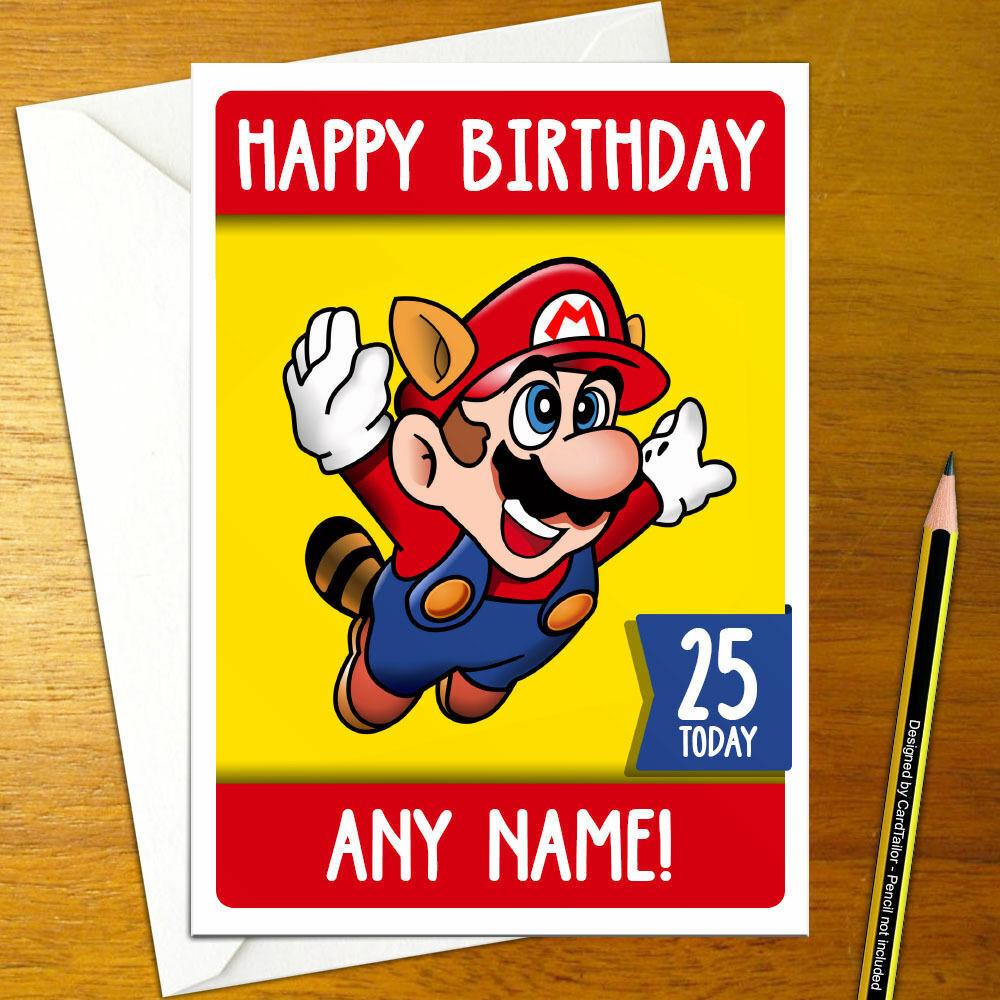 Super Mario Bros 3 Personalised Birthday Card A5 Nintendo Nes