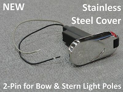 STERN LIGHT BASE BLACK 2 PIN PLUG IN BOAT BOW 51274