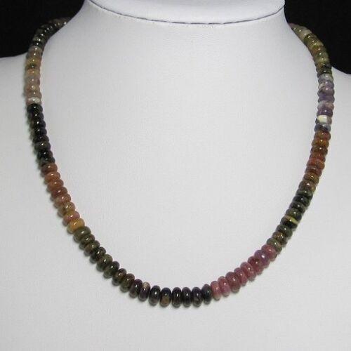 Halskette 49cm aus Multicolor Turmalin Kreis u 925 Silber Edelsteinkette