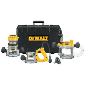 DEWALT-2-1-4-HP-EVS-Three-Base-Router-Kit-DW618B3-New