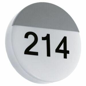 Hausnummernleuchte Hauseingang IP44 LED Schlicht silber Stahl